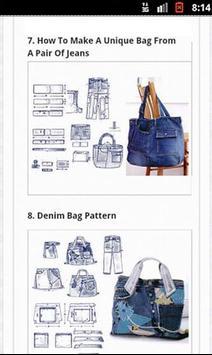 100 DIY Jeans BAG screenshot 6
