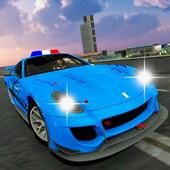 Police chase car simulator: Police cop car driving icon