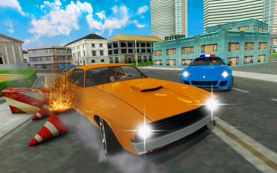 Police chase car simulator: Police cop car driving poster