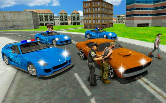 Police chase car simulator: Police cop car driving screenshot 1