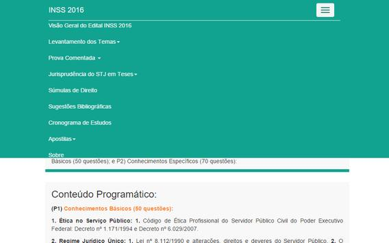 INSS 2016 - iGabaritei apk screenshot