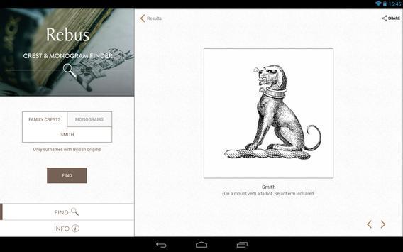 Rebus Crest & Monogram Finder apk screenshot