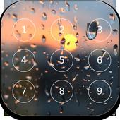 RainDrops password Lock icon