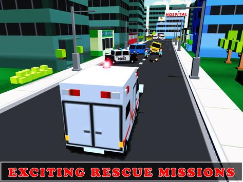 Ambulance Rescue Driving 3D poster