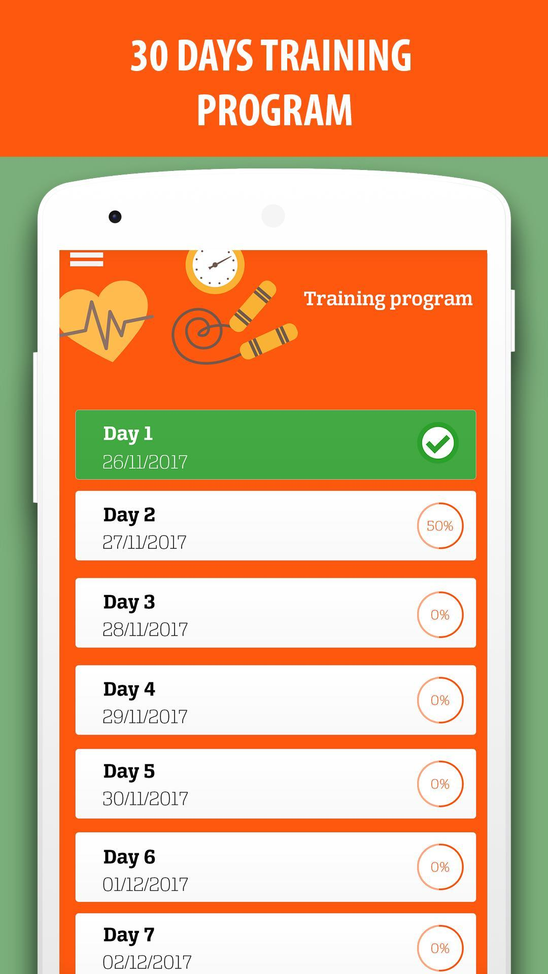 Lose weight: diet and exercises in 30 days for Android - APK