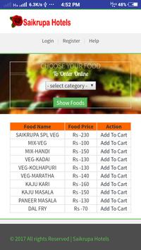 SaiKrupa Hotel apk screenshot
