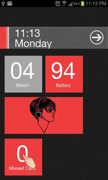 Red Theme Go Locker apk screenshot