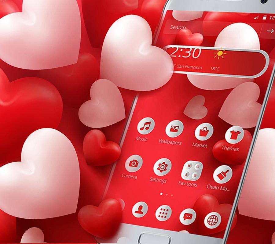 Red Balloon Love Theme for Android - APK Download