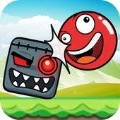 Bubble Red Ball Adventure - Jump Ball 2018 icon