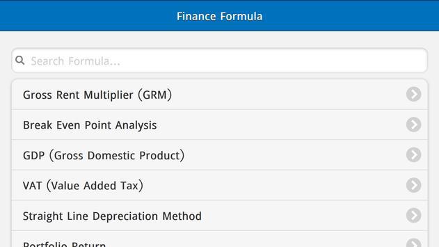 Finance Formulas Free screenshot 8