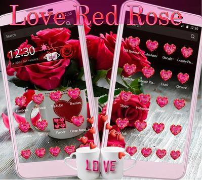 Theme Rose Love Red apk screenshot