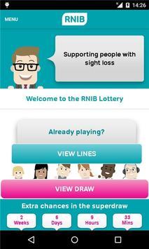 The RNIB Lottery poster