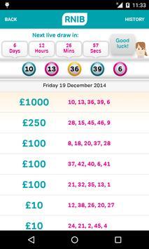 The RNIB Lottery apk screenshot