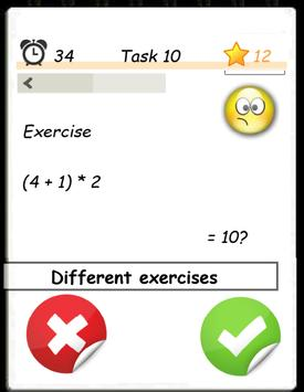 Math training screenshot 1