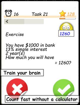 Math training screenshot 2