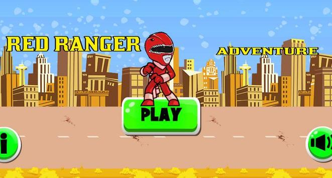 Red Ranger Adventure War poster