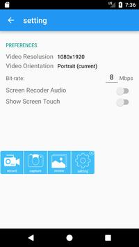PRO Screen Recorder apk screenshot