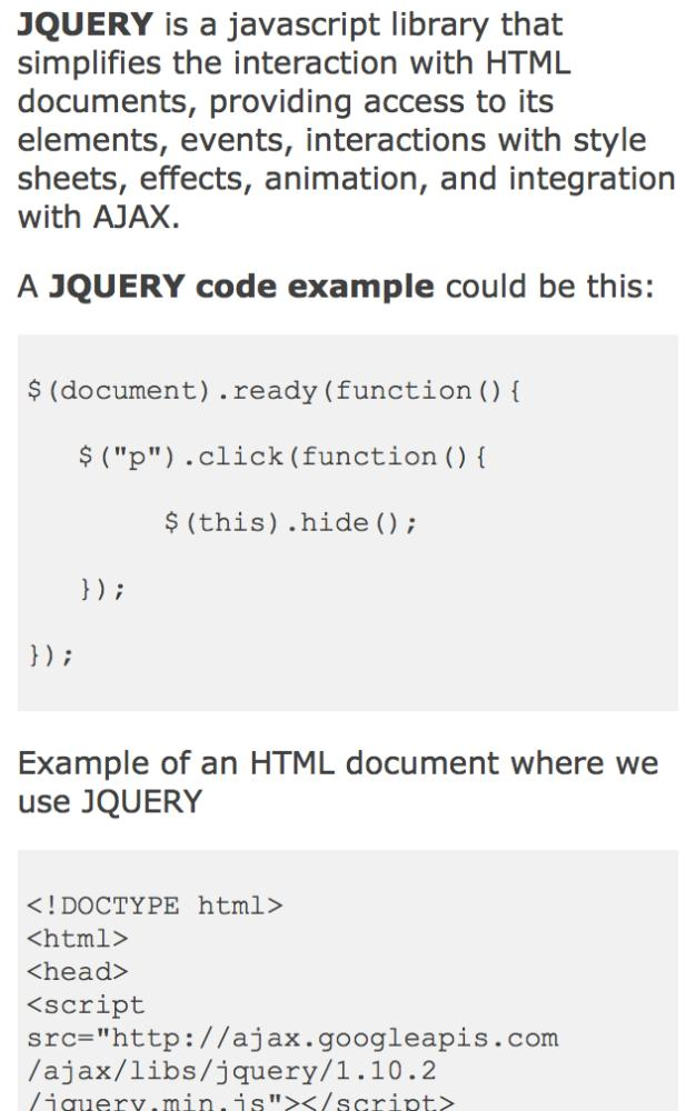 JQUERY tutorial for Android - APK Download