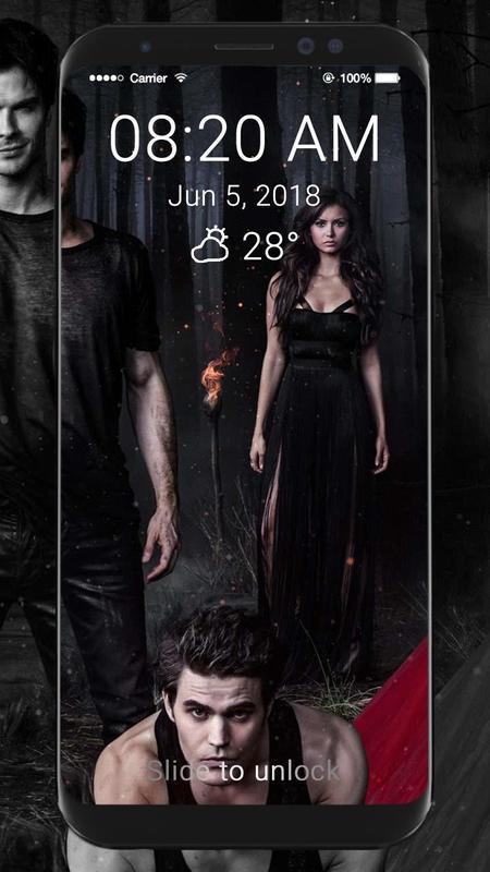 ... The Vampire Diaries Wallpaper HD Lock Screen captura de pantalla 7