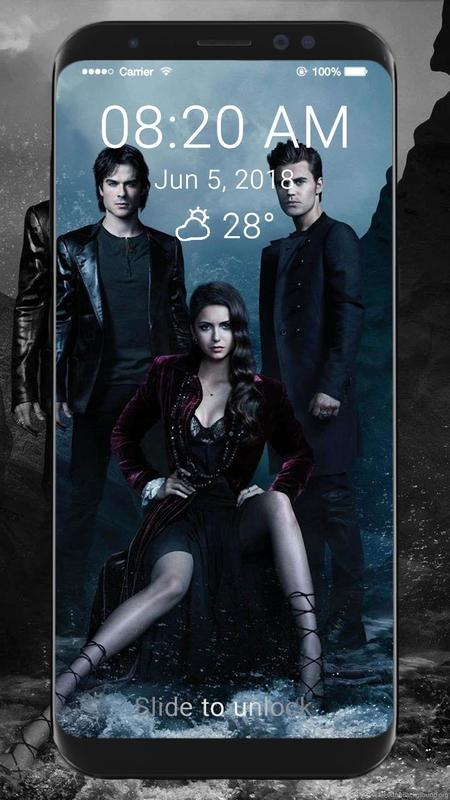 ... The Vampire Diaries Wallpaper HD Lock Screen captura de pantalla 3 ...