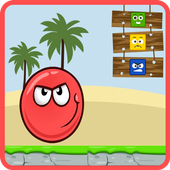 Red Ball Down icon
