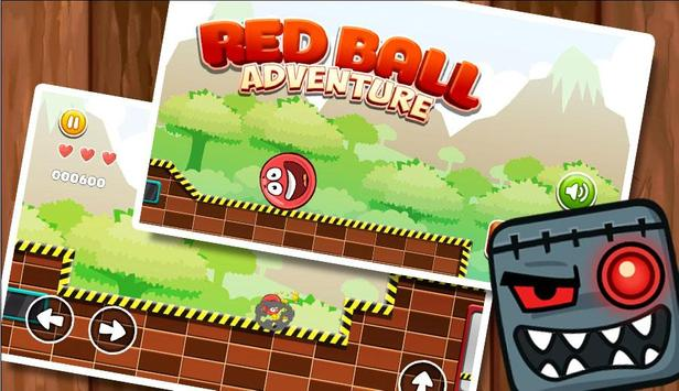 New Red Ball Adventure - Ball Bounce Game screenshot 1
