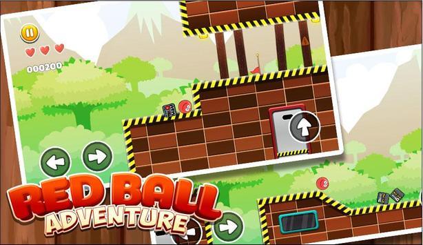 New Red Ball Adventure - Ball Bounce Game screenshot 2