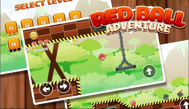 New Red Ball Adventure - Ball Bounce Game screenshot 3