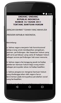 UU BANTUAN HUKUM NO.6 TH 2011 apk screenshot