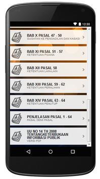 UU INFORMASI PUBLIK apk screenshot
