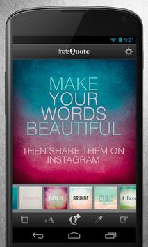 InstaQuote: add text to photos poster