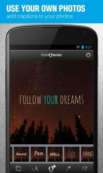 InstaQuote: add text to photos apk screenshot