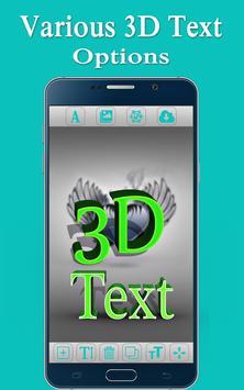 3D Text Photo Editor Lite-3D Logo Maker & 3D Name screenshot 4