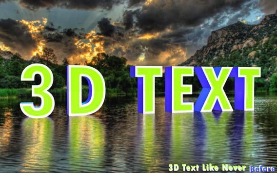 3D Text Photo Editor Lite-3D Logo Maker & 3D Name screenshot 6