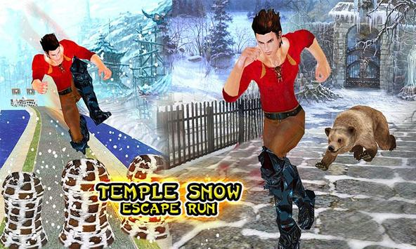 Temple Snow Escape Run poster