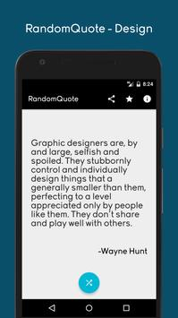 Inspirational quote for designer. poster