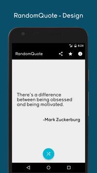 Inspirational quote for designer. screenshot 3
