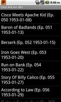 The Cisco Kid Radio Show V.001 screenshot 2