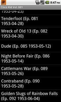 The Cisco Kid Radio Show V.001 screenshot 6