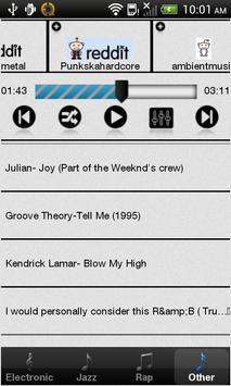 Reddit Music (Ad Supported) screenshot 1