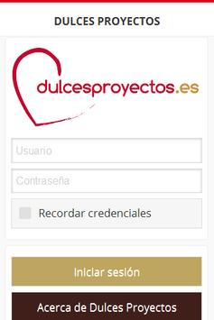 Dulces Proyectos App poster