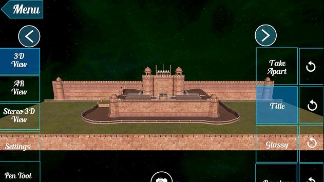 Red Fort 3D poster