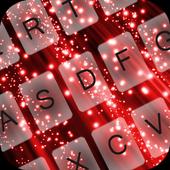 GO Keyboard Red Glow icon
