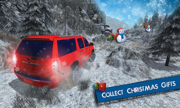 Offroad Escalade Snow Driving poster