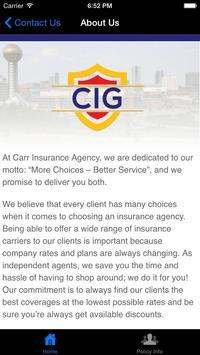 Carr Insurance Group screenshot 1