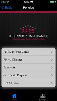 JC Roberts Insurance screenshot 2