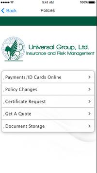 Universal Group Insurance apk screenshot