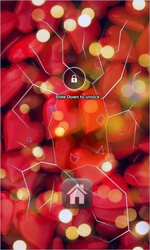 Red Hearts Lock Screen apk screenshot