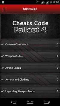 Cheats Code for Fallout 4 poster