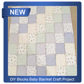 DIY Blocks Baby Blanket Craft Project icon